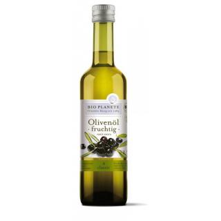 Bio Planète Olivenöl fruchtig scharf -kräftig und ausdrucksstark- 0,5l Flasche