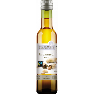 Bio Planète Erdnußöl nativ 250ml Flasche