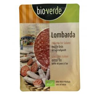 bio verde Salami Lombarda 80g Packung geschnitten