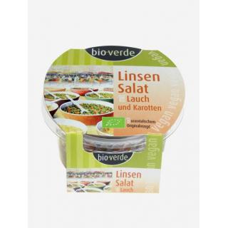 bio-verde Linsen Salat mit Lauch und Karotte 125g Becher