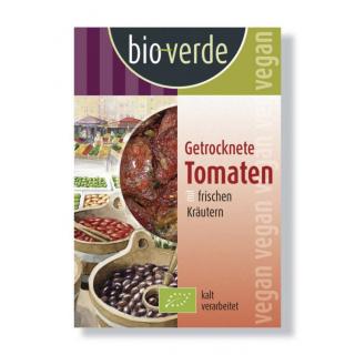 bio-verde Getrocknete Tomaten gekräutert 130g Schale