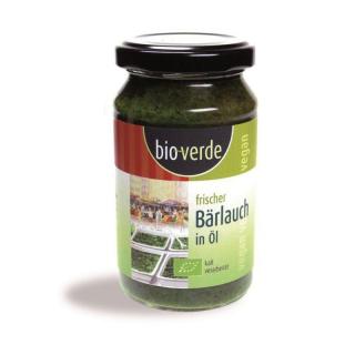bio-verde Frischer Bärlauch in Öl 165g Glas