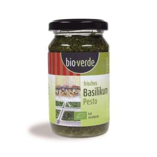 bio-verde Frisches Pesto Basilikum vegan 165g Glas
