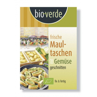 bio-verde Frische Maultaschen mit Gemüsefüllung 250g Packung geschnitten