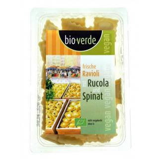 bio-verde Ravioli mit Rucola Spinat Füllung vegan 250g Packung