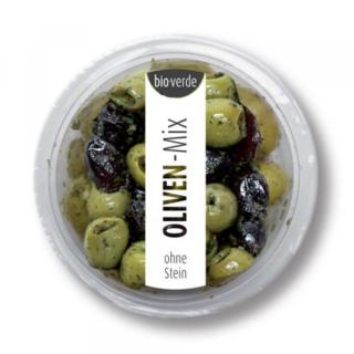 bio-verde Prepack Oliven-Mix ohne Stein 80g Becher mar.frischen Kräutern