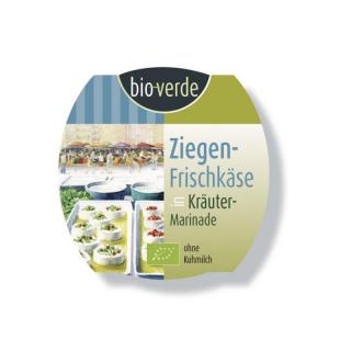 bio-verde Ziegenfrischkäse in Kräuter Marinade mit rotem Pfeffer 100g Becher
