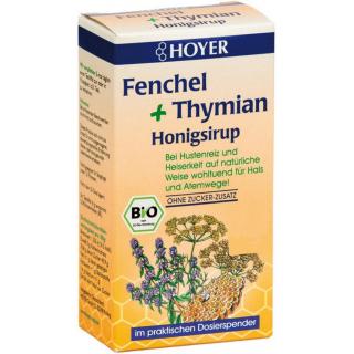 Hoyer Fenchel &Thymian Honigsirup 250g Spender