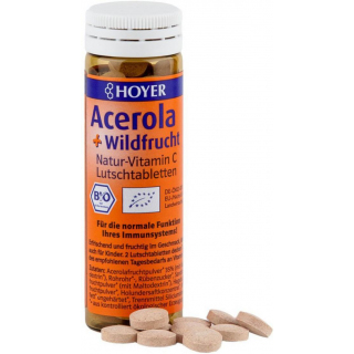 Hoyer Acerola & Wildfrucht Lutschtabletten 60 Stück