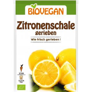 Biovegan geriebene Zitronenschale 9g Beutel