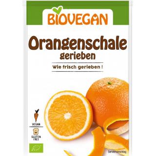 Biovegan geriebene Orangenschale 9g Beutel