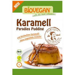 Biovegan Paradies Pudding Karamell 43g Packung