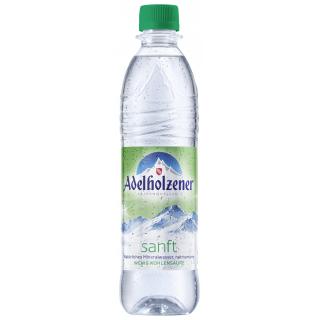 Adelholzener sanft 0,5l PET-Pfandflasche (mit wenig Kohlensäure)