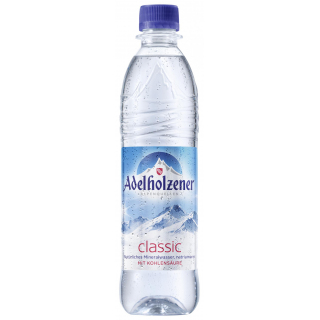 Adelholzener classic 0,5l PET-Pfandflasche (mit Kohlensäure)