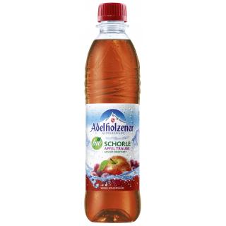 Adelholzener Apfel Trauben Schorle 0,5l PET-Pfandflasche