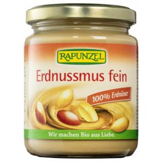 Rapunzel Erdnussmus fein ohne Salz 250g Glas