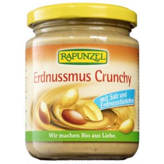 Rapunzel Erdnussmus Crunchy mit Salz 250g Glas