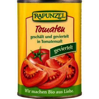 Rapunzel Tomaten geschält und geviertelt in der Dose 400g