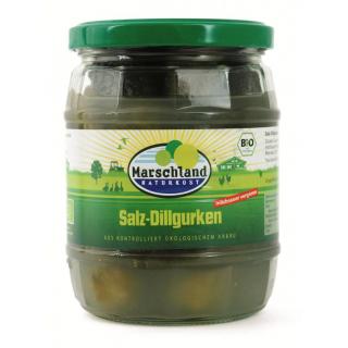 Marschland Salz Dillgurken milchsauer vergoren 580ml Glas