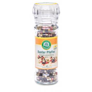 Lebensb Pfeffer bunt ganz mit Mühlenaufsatz 45g Glas