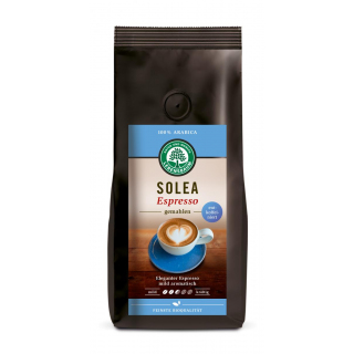 Lebensb Espresso Soleo gemahlen entkoffeiniert 250g Packung