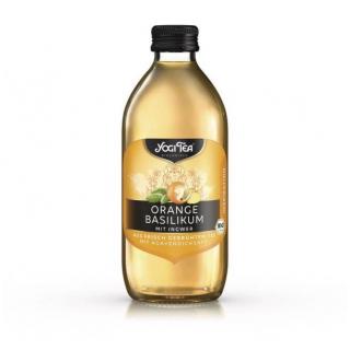 Yogi Tea Orange Basilikum Teekaltgetränk 0,33l Flasche