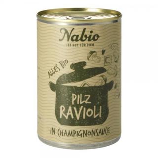 NAbio Feinkost Ravioli Pilz 400g Dose
