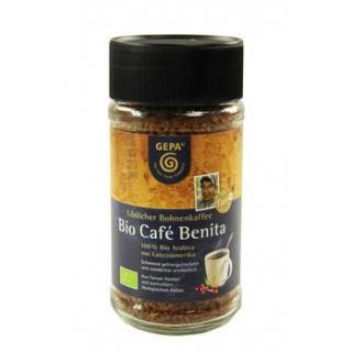 Gepa Café Benita löslicher Bohnenkaffee 100g Glas