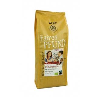 Gepa Faires Pfund Espresso ganze Bohne 500g Packung