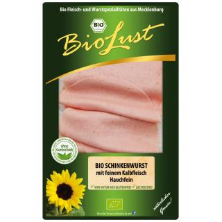 Ludwigsluster Schinkenwurst 80g Packung hauchfein geschnitten