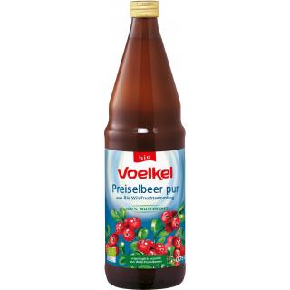 Voelkel Preiselbeersaft 100 % Muttersaft 0,75l Flasche