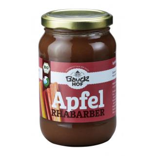 Bauck Hof Apfel-Rhabarbermus mit Apfel-Dicksaft 360g Glas
