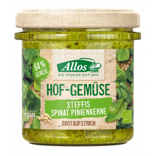 Allos Hof-Gemüse Sabinas Spinat-Pinienkerne 135g Glas