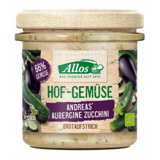 Allos Hofgemüse Andrea`s Aubergine Zucchini 135g Glas