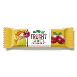 Allos Fruchtschnitte Cranberry 30g Stück