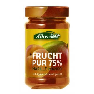 Allos Frucht pur Marille Mango 250g Glas -75% Fruchtanteil