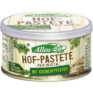 Allos Hof Pastete grüner Pfeffer 125g Dose