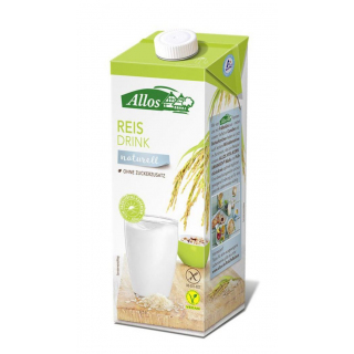 Allos Reis Drink naturell 1l Tetra Pack