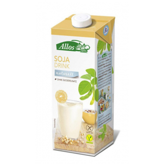 Allos Soja Drink naturell 1l Tetra Pack