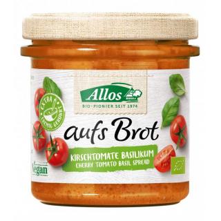 Allos Auf´s Brot Kirschtomate Basilikum 140g Glas