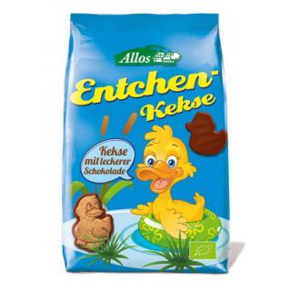 Allos Entchen-Kekse mit Vollmilch-Schokolade 150g Packung