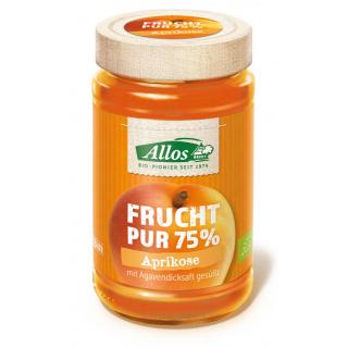 Allos Frucht Pur Aprikose 250g Glas -75% Fruchtanteil-