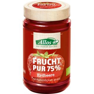 Allos Frucht pur Erdbeere 250g Glas -75% Fruchtanteil-