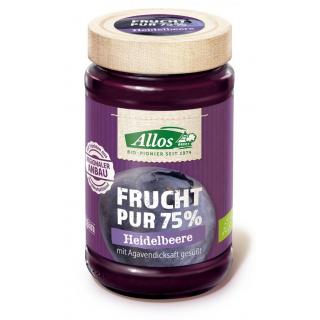 Allos Frucht Pur Heidelbeere 250g Glas -75% Fruchtanteil-
