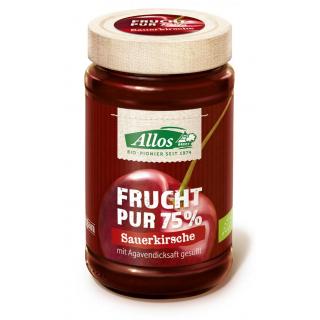 Allos Frucht pur Sauerkirsche 250g Glas -75% Fruchtanteil-