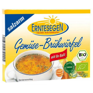 Erntesegen Gemüse Brühwürfel salzarm à 11g für 0,5l 6 Stück Pack