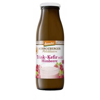 Schrozberg Milchbauern Fruchtkefir Himbeere 500g Flasche