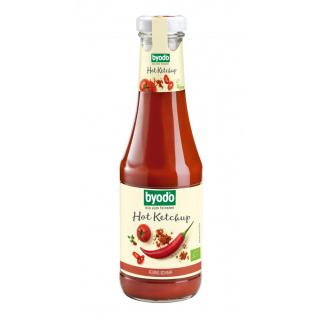 byodo Hot Ketchup 500ml Flasche -scharf-