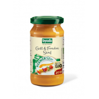 byodo Grill & Fondue Senf fein würzig 200ml Glas