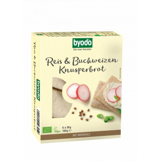 Byodo Knusperbrot Reis & Buchweizen 120g Packung